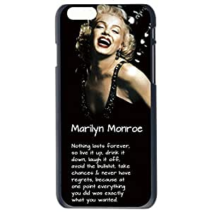 Fashion Custom Funny Marilyn Monroe Quote Design Plastic Hard Case Cover Back Skin Protector For Apple iPhone 6G by Alexism Size113