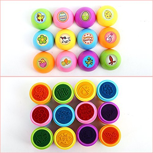 Small easter gifts for kids amazon 12pcs assorted stamps for kids self ink stamps stampers toys set for party favor teacher stampskids stamps activities gifts for kid negle Image collections