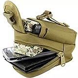 Cheap Ezyoutdoor Tactical Large Size Dump Pouch Magazine Drop Pouch Brown Python Color 9x13x8 CM