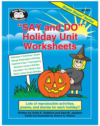 Say and Do Holiday Worksheets: Lots of reproducible activities, poems, and stories for each holiday!! (Super Duper® Series)]()