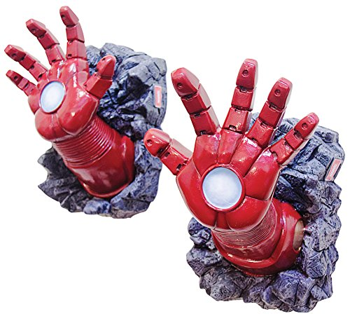 Marvel mens Marvel Universe Iron Man Hands, Multi, One Size (Iron Man Hands)
