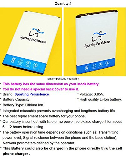 [LG Lancet Battery] High Power 2400mAh Extra Rechargeable Excellent Li-ion Battery for Verizon LG Lancet VS820 Android phone