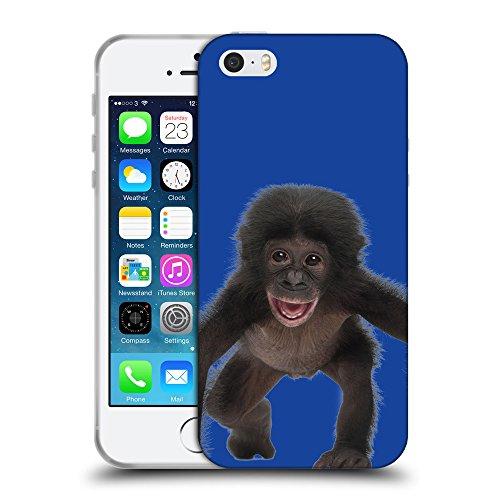 GoGoMobile Coque de Protection TPU Silicone Case pour // Q05570613 Bébé bonobo Blu // Apple iPhone 5 5S 5G SE