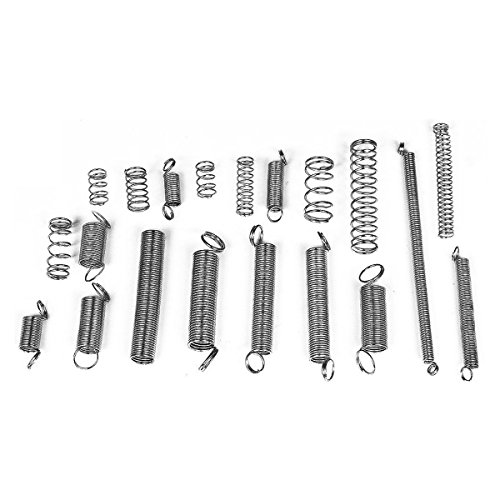 UEETEK 200PCS Spring Rate Assortment Spiral Galvanized Spring Set Extension Spring (Return Set Spring)