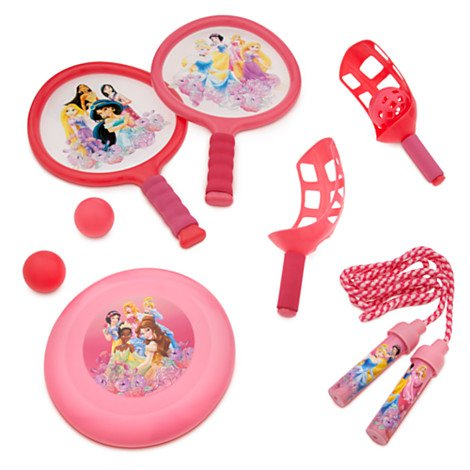 Disney Princess Sports Bag with Paddle Ball, Jump Rope and Flying Disc & Carry - Malls Outlet Aurora In
