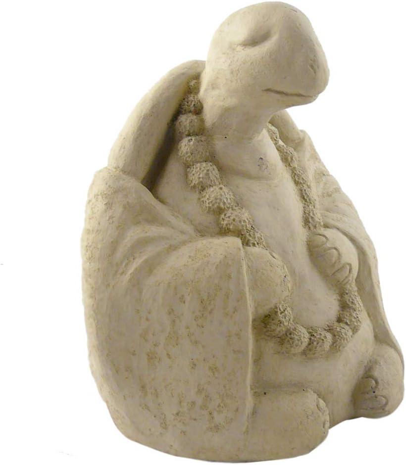 Meditating Turtle - Cast Stone Garden Sculpture : Large Size, Antique Stone Finish