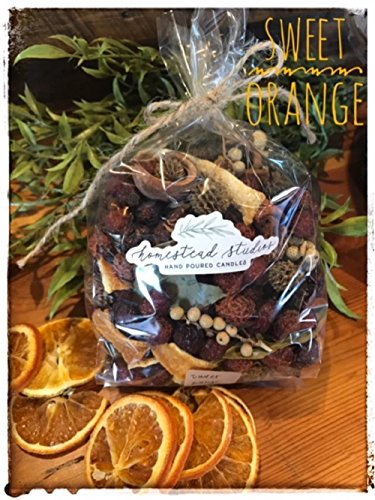 Homestead Studios Sweet Orange Potpourri - Sweet Citrus Aroma - Beautiful Potpourri That Can Be used As a Bowl Filler All Year Long