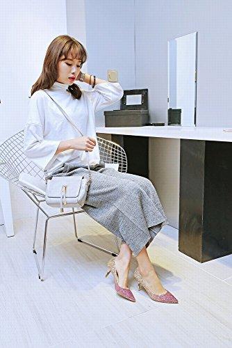 Une Dégradé Paillettes Seule Mode Mode de Haut Asakuchi de Chaussures SED B Femme avec Stiletto Talon PwxXq7EnI
