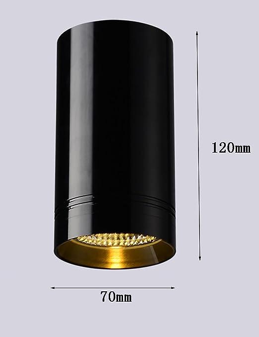 CAIJUN Foco Simple, Moderno, de Techo Circular, proyector, Fondo ...