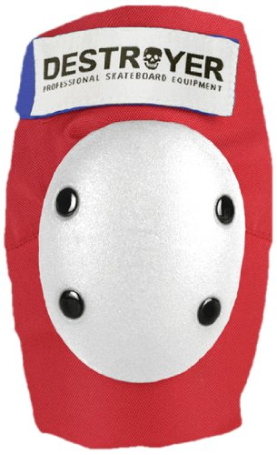 Destroyer Pro Elbow Pad - Destroyer Retro Pro Elbow Pad (Red/White, Small)