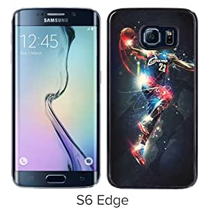 Popular Samsung Galaxy S6 Edge Cover Case ,Cleveland Cavaliers Lebron James 14 Black Samsung Galaxy S6 Edge Case Hot Sale And Unique Designed Phone Case