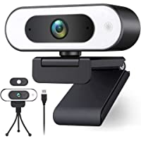 USB Web Cam Light,Streaming 1080p Webcam for PC Ring Light Webcam with Microphone for Desktop HD 1080p Web Camera for…