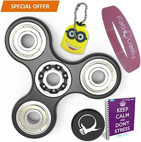 SPECIAL OFFER Spinner Anti-Anxiety 360 Spin with EBOOK + Minion Key Chain- Perfect For ADD, ADHD Relieves Stress, Autism, Anxiety And Relax for Children and Adults EBOOK is sent by email