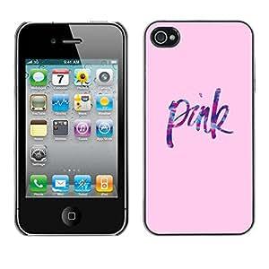 rígido protector delgado Shell Prima Delgada Casa Carcasa Funda Case Bandera Cover Armor para Apple Iphone 4 / 4S /Text Love Color Pastel/ STRONG