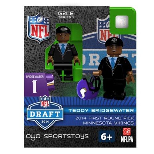 NFL Minnesota Vikings Teddy Bridgewater First Round Draft Pick Oyo G2S1 Minifigure