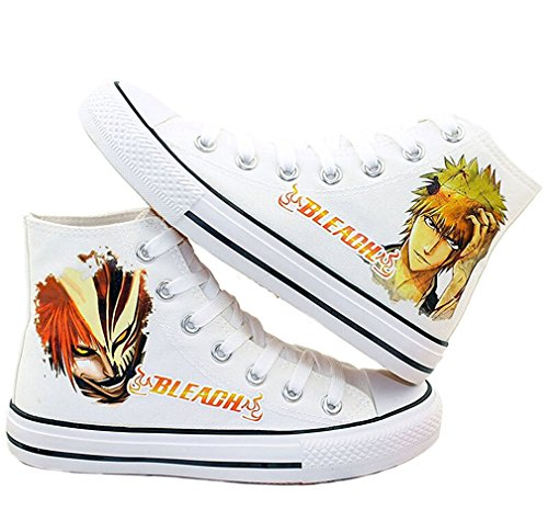 Bromeo Bleach Unisexe Toile Salut-Top Sneaker Baskets Mode Chaussures