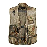 Sports Outdoors Best Deals - Men Outdoor Sport Multi-Pocket Mesh Vest Fly Fishing Photography Hunting Shooting Travel Quick-Dry Jacket Waistcoat M-XXXL - Desert Camouflage, XXXL