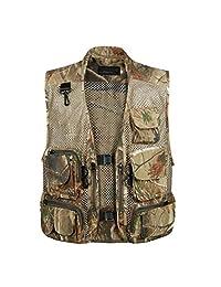 Men Outdoor Sport Multi-Pocket Mesh Vest Fly Fishing Photography Hunting Shooting Travel Quick-Dry Jacket Waistcoat M-XXXL
