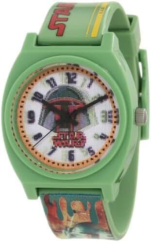 Star Wars Kids' 9006074 Star Wars Boba Fett Plastic Watch with Plastic Band