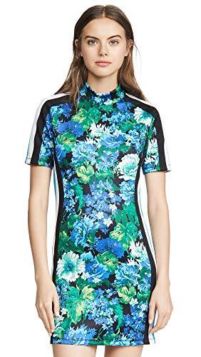 (Pam & Gela Women's Mock Neck Dress, Multi, Small)