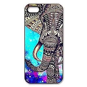 Mini - Elephant Pattern Plastic Hard Case for iPhone 5/5S