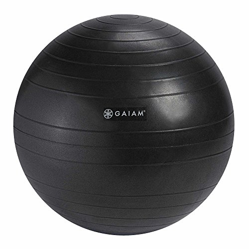 Gaiam Balance Ball Chair Replacement Ball, Charcoal, 52cm