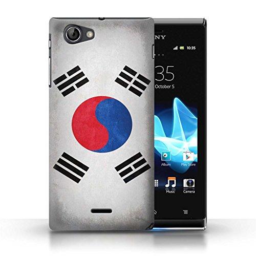 Etui / Coque pour Sony Xperia J (ST26i) / Corée/coréen conception / Collection de Drapeau