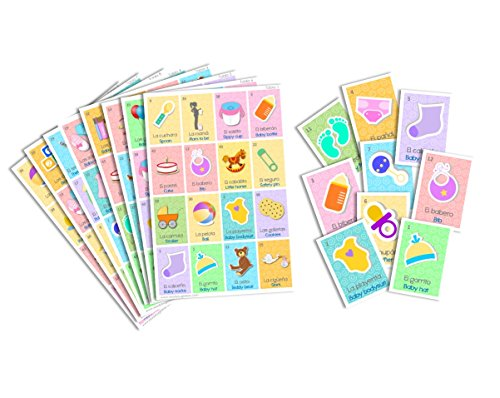 Juego De Lotera Para Baby Shower Bingo For Baby Shower Ingls Y