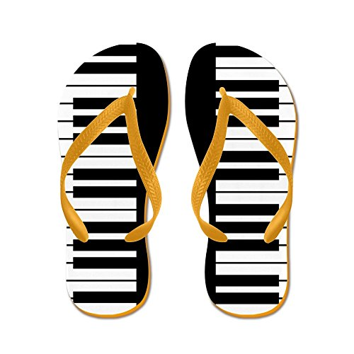 CafePress Piano Key - Flip Flops, Funny Thong Sandals, Beach Sandals Orange