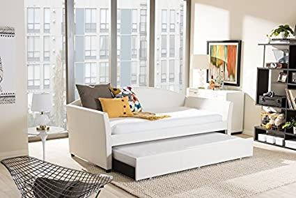 Amazon baxton studio lucille modern and contemporary white