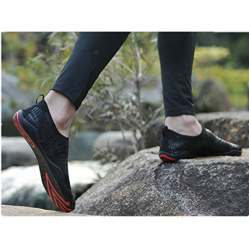 Swimming with Black material Aqua KuBua Rubber A Shoes Shoes Diving Drainage Dry Surfing Shoes Boating Quick Walking Sports Womens Fishing for Water Beach Mens Holes Yoga Shoes Sandals pxp4wrqTE8