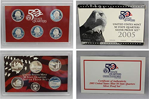 2005 S US Mint Quarters Silver Proof ()