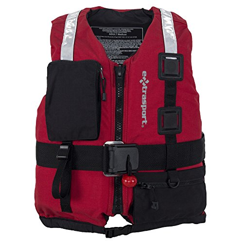 Extrasport Swiftwater Fury Rescue Lifejacket-Red-XL (Rescue Life Vest)