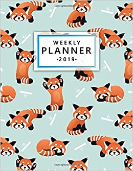 Amazon.com: Weekly Planner 2019: Cute Red Panda Bamboo ...