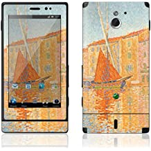 Sony Xperia Sola MT27i Decal Phone Skin Decorative Sticker w/ Free Matching Wallpaper - The Red Bouy St Tropez