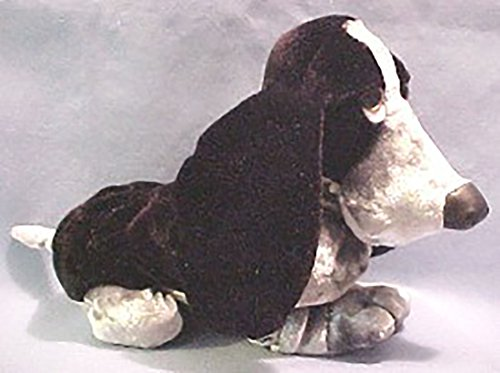 Plush Velvet Black Hush Puppies Basset Hound Stuffed Animal