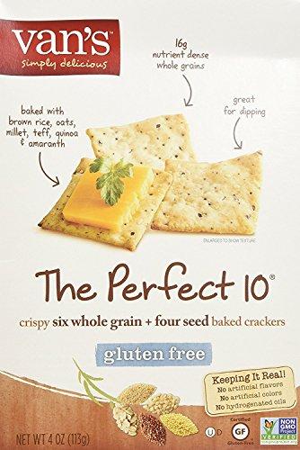 Van's, The Perfect 10 Gluten Free Crackers, 4 (Gluten Free Crackers)