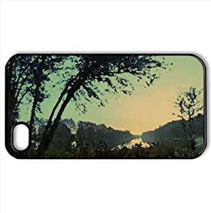 Morning At The Lake Watercolor style Cover iPhone 4 and 4S Case (Lakes Watercolor style Cover iPhone 4 and 4S Case)