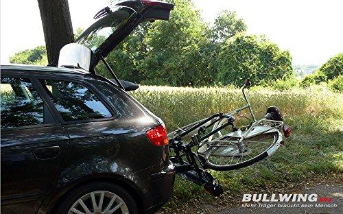 Bullwing SR3 Fahrradträger Heckträger für 2 Fahrräder oder E-Bikes, für Anhängerkupplung AHK, klappbar für Auto und PKW