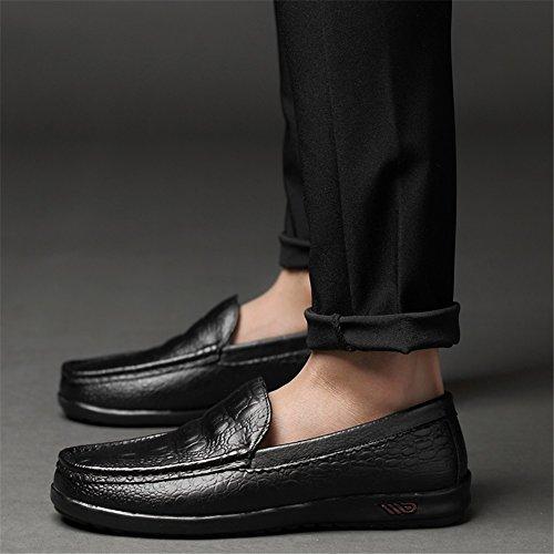 y Mocasines Hombre Comfort Ons Verano Primavera de Slip Zapatos Conducción Zapatos de Caminar Cuero de F de Zapatos CPqUvnw