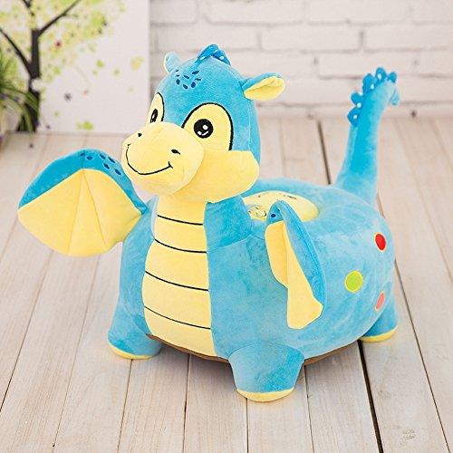 MeMoreCool–Sofá con diseño de elefante gris para niños, silla de juguete de felpa