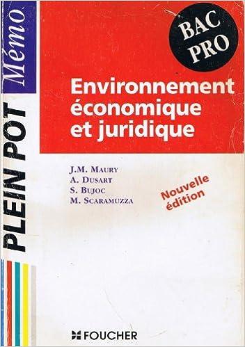 En ligne Environnement économique et juridique : Bac pro epub, pdf