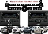 Radio Repair Kit Dash Replacement For 2007-2013 GM Head Unit Radio Vehicles Decal Stickers For Tahoe, Yukon, Denali, Silverado, Suburban, Avalanche, Acadia, Sierra, Saturn Outlook, Buick Enclave