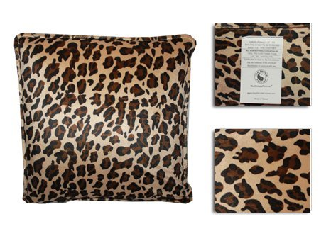HealthmateForever High Quality Vibrating Neck Relief Massage Pillow for Neck | Great Back Support Pillows Cushion | This Relaxation Pillow works as a Lumbar Support Car Travel Massage Cushion on Long Road Trips! (Large Leopard) Shipping to USA ONLY, No International Shipping. ()