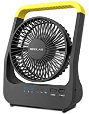 OPOLAR D-Cell Battery Operated Desk Fan with Timer, Portable Camping Cooling Fan with Strong Airflow, 4 D Batteries (Not Included) or USB Powered