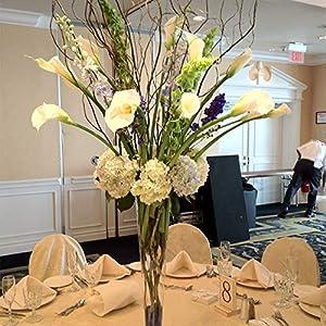 GTIDEA 20Pcs Fake PU Calla Lily Artificial Flowers Bride Wedding Bouquet for Table Centerpieces Arrangements Home DIY Garden Office Decor (White) 2