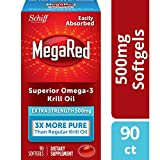 MegaRed Omega 3 Krill Oil Extra Strength 500mg, 90 Softgels