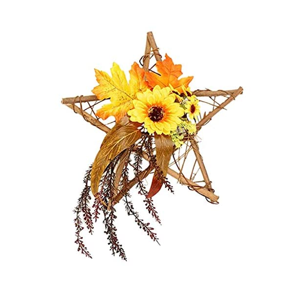 Kottiya Flower Wreath Sunflower Wreath Front Door Wreaths for Indoor Outdoor Fall Year Sunflowers Farmhouse Wall Decor – Pentagram