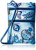 Anuschka Mini Double Zip Travel Crossbodybewitching Blues, Bwb/Bewitching Blues