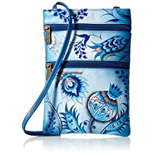 Anuschka Mini Double Zip Travel Crossbodybewitching Blues
